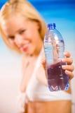 женщина воды бутылки Стоковое Изображение
