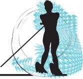 женщина воды катания на лыжах иллюстрации бесплатная иллюстрация
