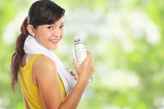 женщина воды пригодности стоковая фотография rf