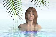 женщина воды иллюстрация штока