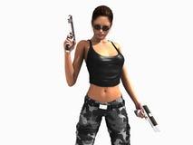 женщина воина Стоковые Изображения RF