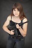 женщина войск винтовки самолет-истребителя специальная Стоковое Изображение