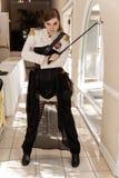 Женщина войск Steampunk стоковые изображения