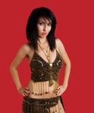 женщина волос богини costume темная Стоковые Фотографии RF
