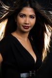 женщина волос брюнет длинняя Стоковое Фото