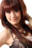 женщина волос довольно красная Стоковое фото RF