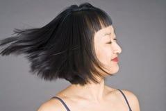 женщина волос короткая стоковое изображение rf