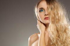 женщина волос стороны половинная Стоковая Фотография RF