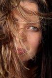 женщина волос стороны Стоковые Изображения