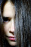 женщина волос длинняя Стоковая Фотография