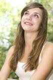 Женщина волос Brown сь Стоковые Изображения RF