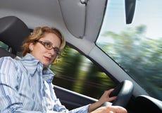 женщина водителя Стоковое Фото