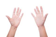 женщина вручает 2 Стоковые Изображения RF