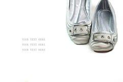 женщина вскользь ботинок Стоковая Фотография