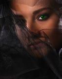 женщина вуали портрета Стоковая Фотография RF