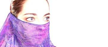 женщина вуали стоковая фотография rf