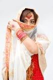 женщина вуали стоковое изображение rf