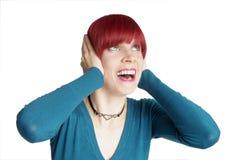 женщина выкрика Стоковое Изображение RF