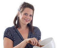 женщина выпечки Стоковая Фотография RF
