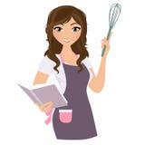 Женщина выпечки иллюстрация вектора