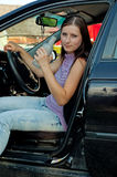 женщина выпитая водителем Стоковые Фотографии RF