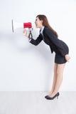 женщина выражения дела разочарованная кричащая Стоковое фото RF