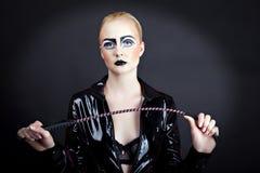 Женщина в латексе Стоковые Фото