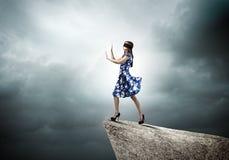 Женщина в безпассудстве Стоковое фото RF