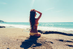 Женщина в бикини Стоковые Изображения RF