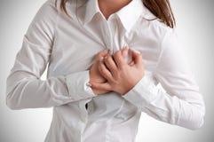 Женщина в боли Стоковое Изображение RF