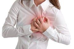 Женщина в боли Стоковые Фотографии RF