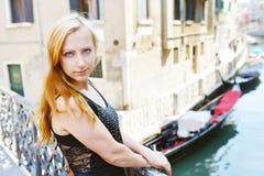 Женщина в Венеции Стоковая Фотография