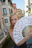 Женщина в Венеции Стоковая Фотография RF