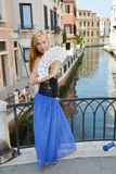 Женщина в Венеции Стоковые Фотографии RF