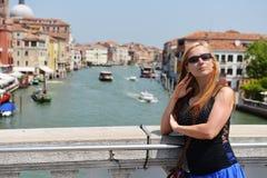 Женщина в Венеции Стоковое фото RF