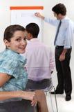 Женщина в деловой встрече Стоковые Изображения