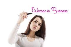 Женщина в деле стоковое фото rf