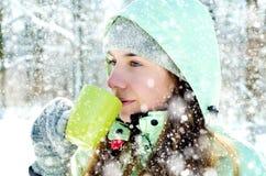 Женщина в зиме стоковые изображения rf