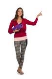 Женщина в изолированном костюме тренировки Стоковое Фото