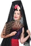 Женщина в испанском Costume Стоковое Фото