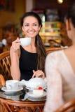 Женщина в кафе Стоковое Изображение RF