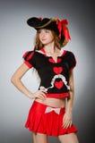 Женщина в костюме пирата Стоковая Фотография