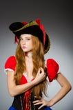 Женщина в костюме пирата Стоковые Фото