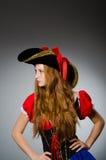 Женщина в костюме пирата Стоковое фото RF