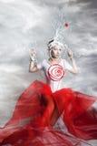 Женщина в костюме фантазии Стоковое Фото