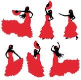 Женщина в костюме фламенко Стоковые Фото