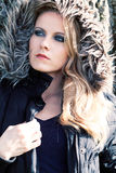Женщина в куртке стоковое фото rf