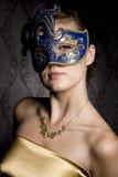 Женщина в маске Стоковое Изображение RF