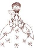 Женщина в маске masquerade Стоковое Изображение