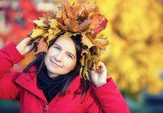 Женщина в осени Стоковое фото RF